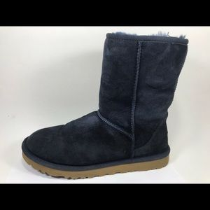 UGG Shoes - Ugg Classic Short Navy Leather Boots 7
